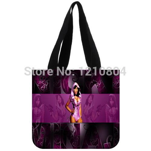 Free Shipping Custom Tote Bag!US Pop Singer&Nicki Minaj Background Shopping Bag for women Use(China (Mainland))