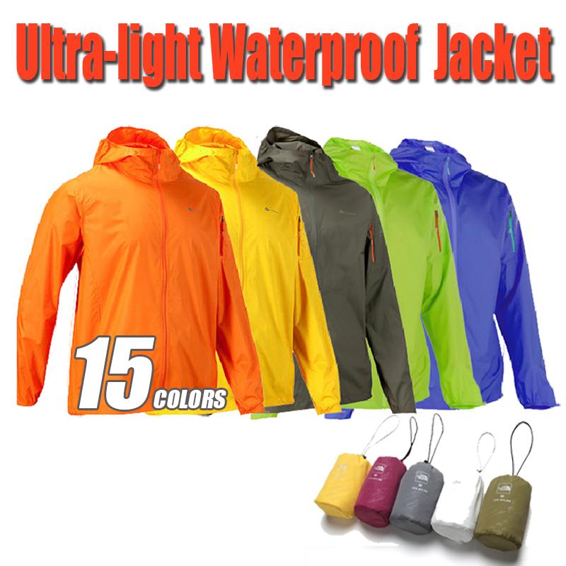 2015 Outdoor Waterproof Windproof Hiking Jacket Men Women Coat Windbreaker Ultra-light Camping Jacket Men Jackets Women 15Colors(China (Mainland))