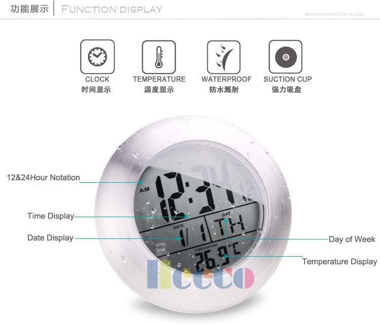Achetez En Gros Bathroom Clock Suction En Ligne Des