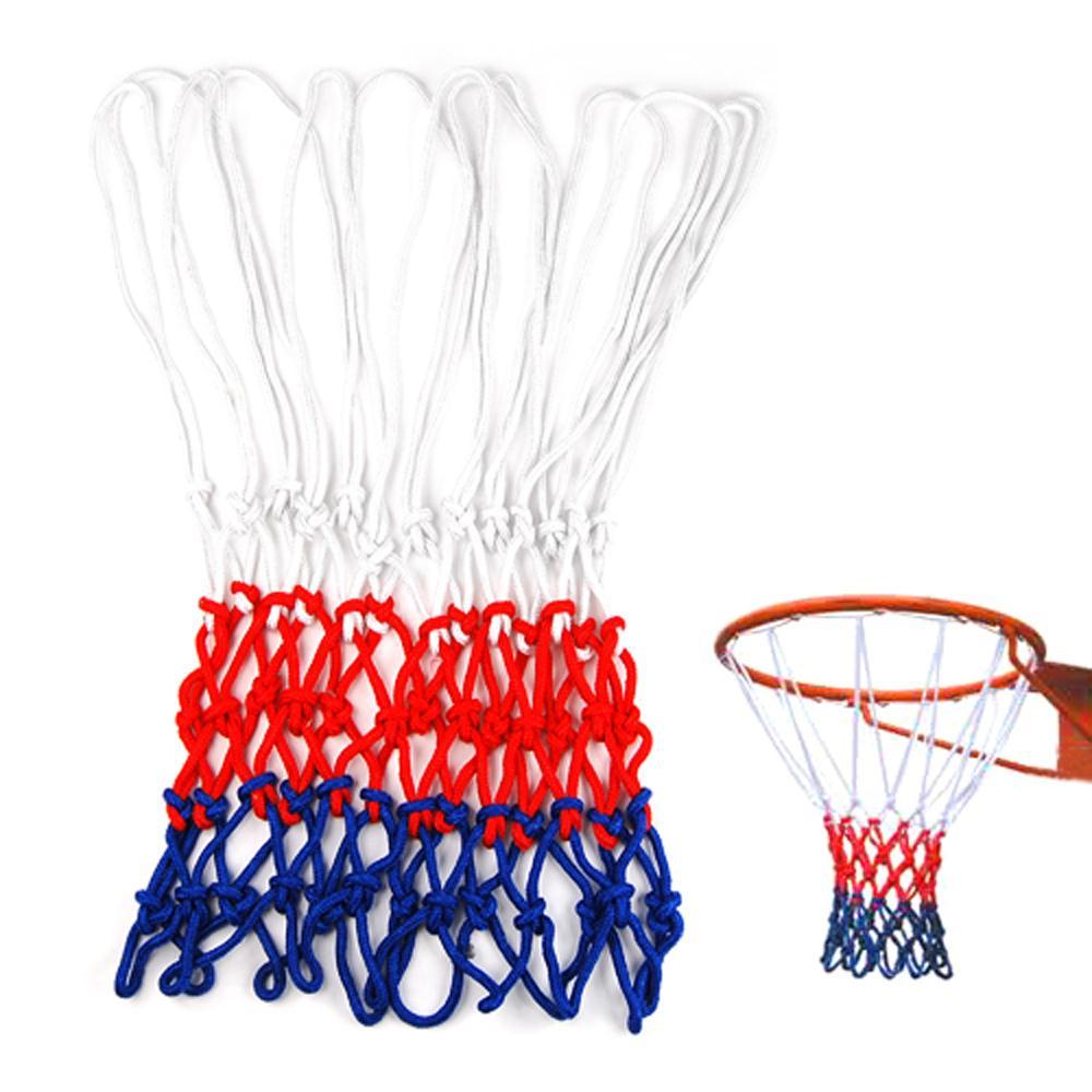 Unique Sale UK Standard Durable Nylon Basketball Goal Hoop Net Netting Red/White/Blue Sports(China (Mainland))