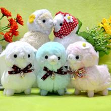Newest Bell Scarf Alpacasso Amuse Arpakasso Alpaca Soft Plush Doll Toy Kids Gift(China (Mainland))
