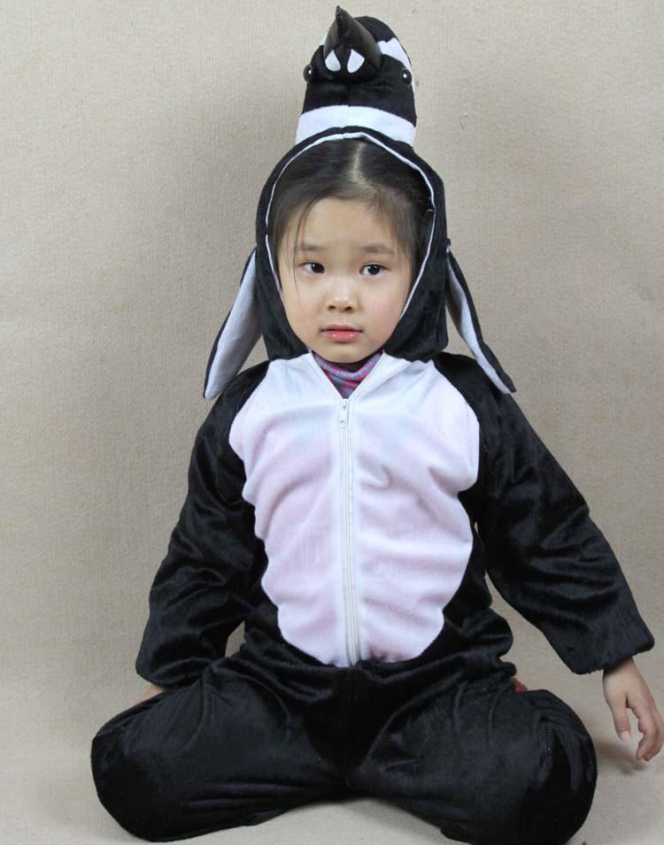 2015 Children New Boy Girl Little Penguin Halloween Costume Cartoon Cosplay Children's Day one-piece Garment Animal ETCS018(China (Mainland))