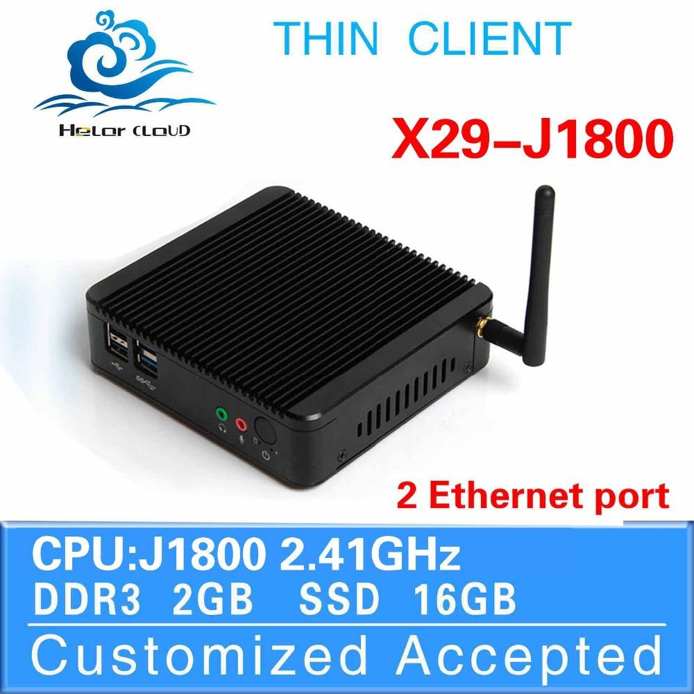 1 Pcs Big Promotion!Intel J1800 dual core 2GB RAM 16GB SSD Computer Embedded Host Desk-Top Computers Mini PC Thin Client(China (Mainland))