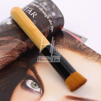 Профессиональный полнофункциональный фонд кисти для макияжа крем плоским верхом полировка ...