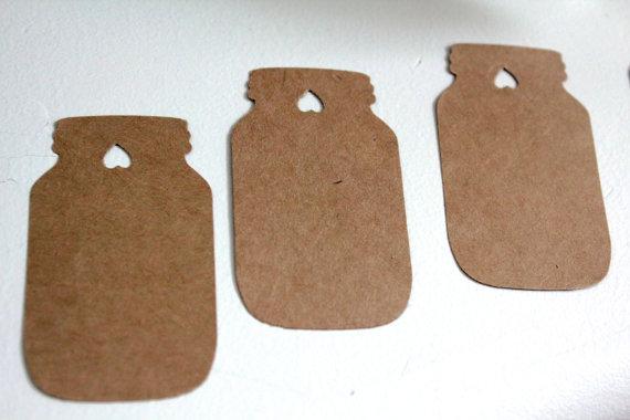 Tag tag favor do casamento rústico desejando árvore do frasco de ...