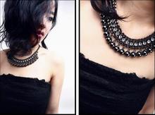 New fashion sexy metallic necklace off the collar Chain Choker Bib Statement Necklace