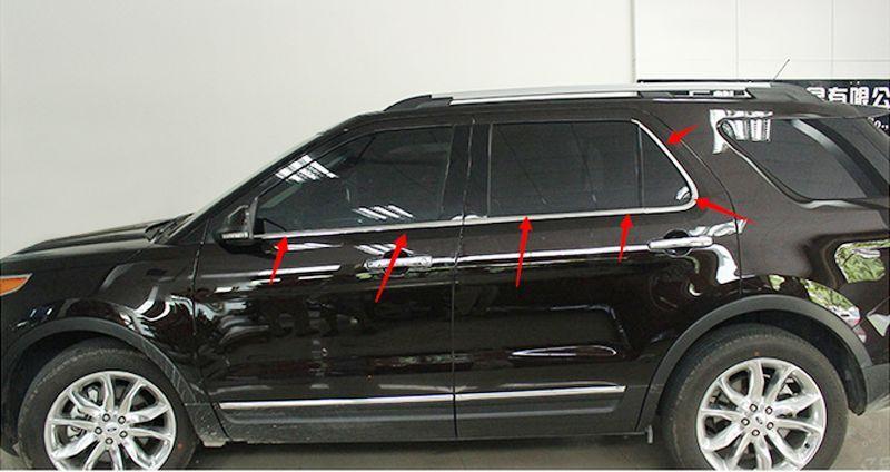 Хромовые накладки для авто XIONG 6pcs Ford Explorer 2011 авто бу ford trnzit