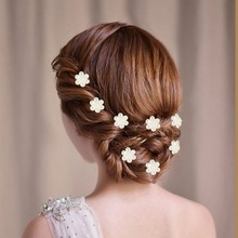 12Pcs Crystal Wedding Bridal Hair Pins Twists Coils Flower Swirl Spiral Hairpins for Women Girls Hair