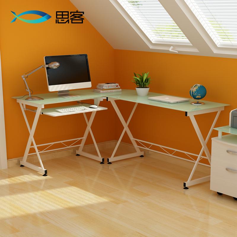Best off modern minimalist glass corner computer desk desk home office desk simple combination(China (Mainland))