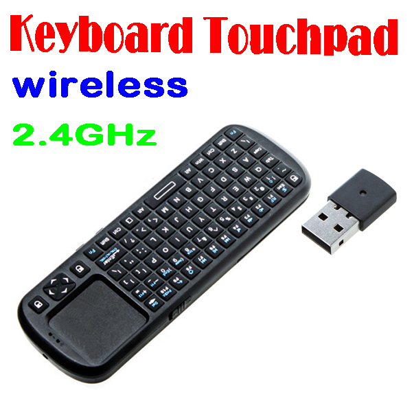 50% shipping fee 10 pieces 2.4G RF Mini Wireless Handheld Keyboard Touchpad with Smart TV/PC Remote QWERTY LED Light Computer(China (Mainland))