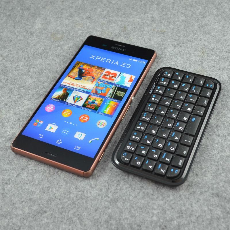 Free shipping mini Pocket size Wireless Bluetooth QWERTY Keyboard for Sony Xperia Z3(China (Mainland))