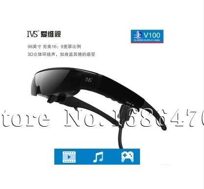 98 -inch 16 : 9 widescreen 3D Video Glasses with VGA and AV input Google glasses Rc Spare Parts Part Accessories(China (Mainland))