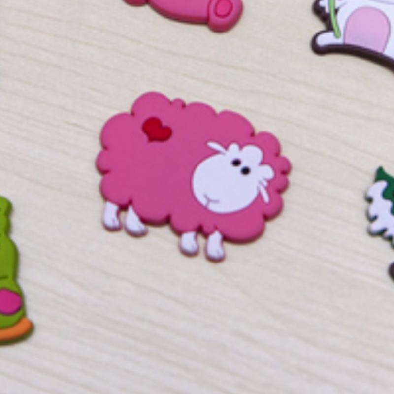 brinquedos imanes de nevera ima magnets on the fridge Super + soft rubber sheep may Rose Fridge magnet brinquedo(China (Mainland))