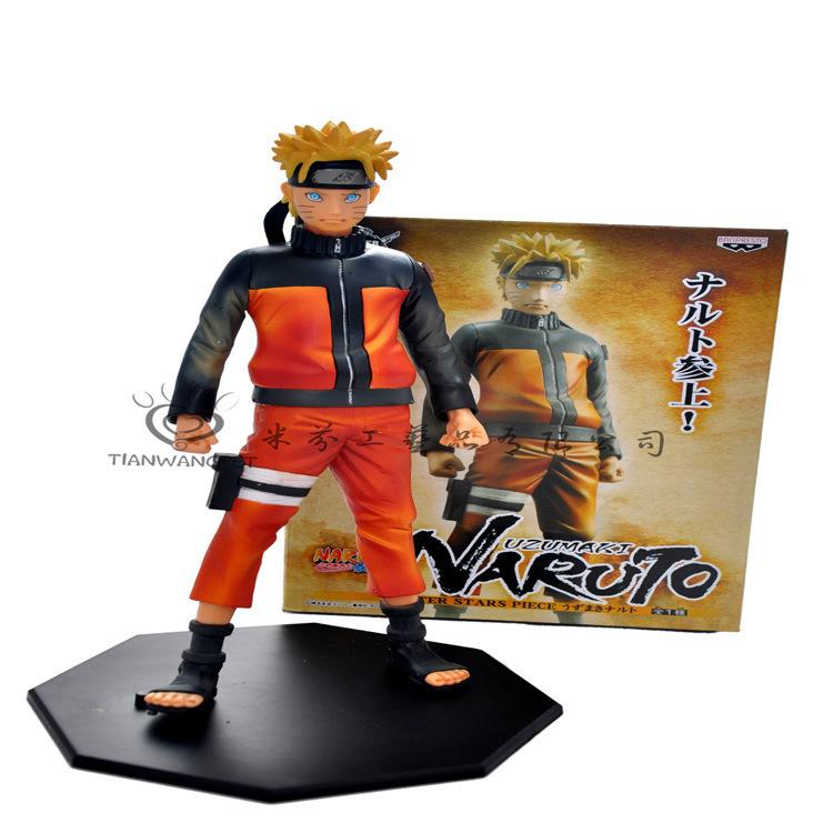 24cm Naruto Sasuke Naruto Uzumaki Naruto boxed large group model ornaments(China (Mainland))