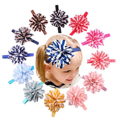 fashion hndmadebig flower elastic headband baby hairband(China (Mainland))