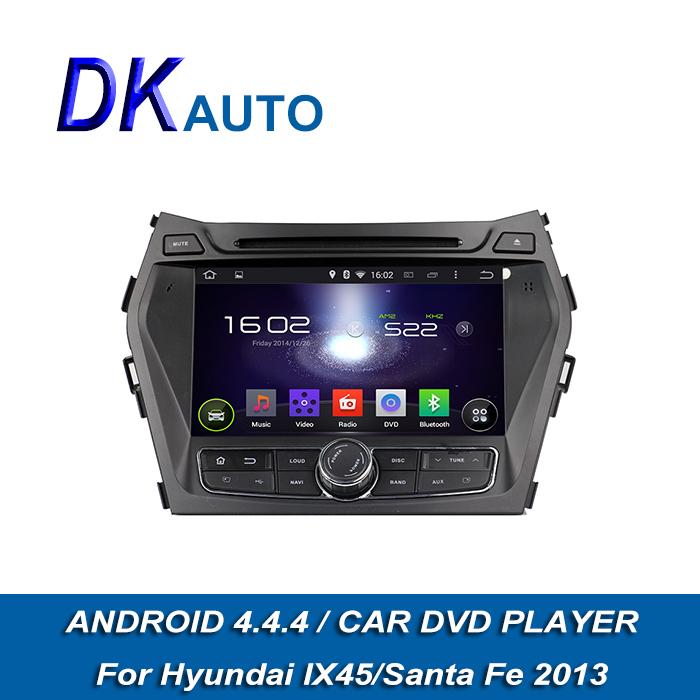 Car Radio 2 Din Android for Hyundai IX45 2013 Santa Fe 2013 8 Inch Audio OBD Map USB GPS Navi FM Handsfree DVB-T T2 DVD Internet(China (Mainland))