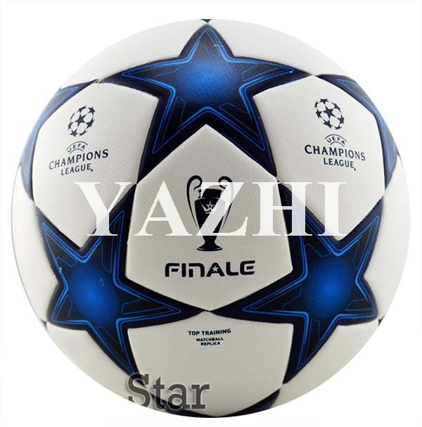 Free Shipping Hot Sale Brand New Champion League Balls Final Soccer Ball PU Laminated Official Size 5 Football For Match(China (Mainland))