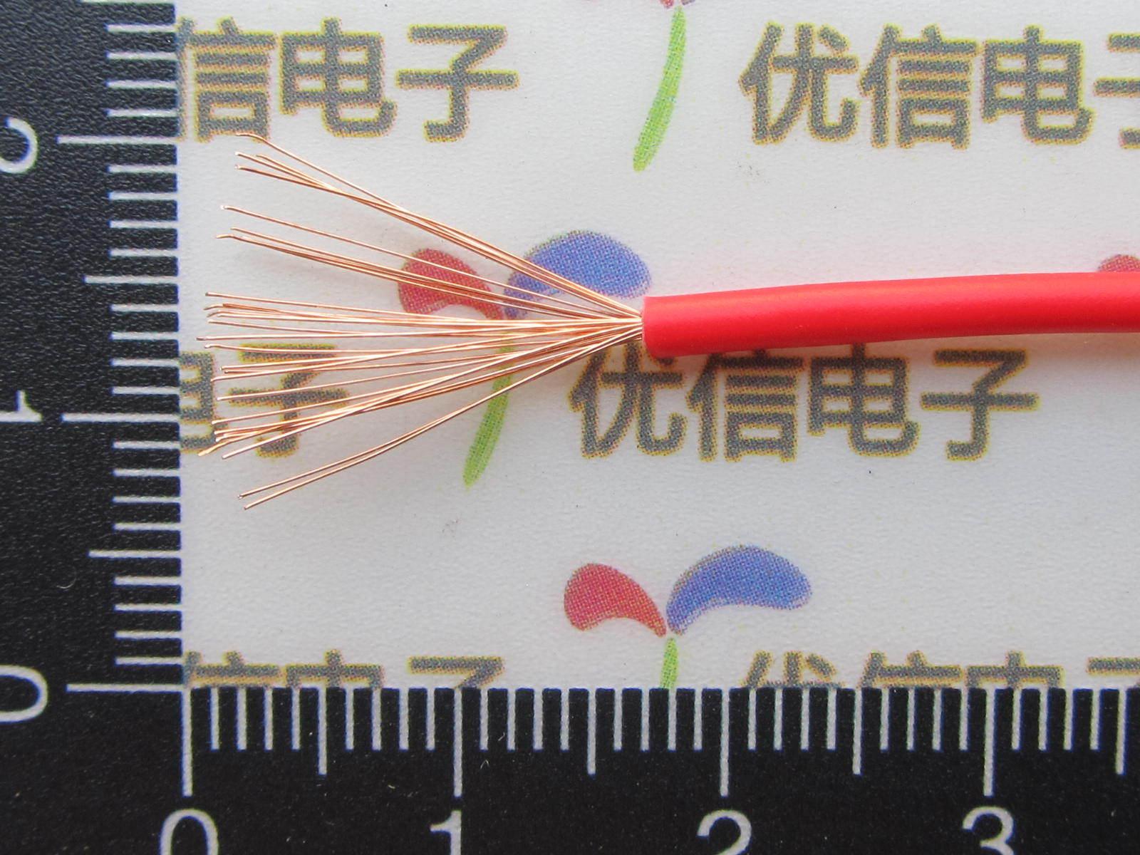 RV 0.5 square red line power cord/multiple core/multi core copper wire/10 m(China (Mainland))