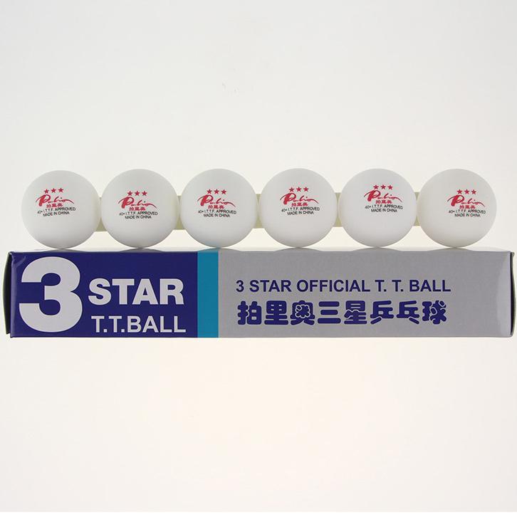 12 Balls/lot Palio New Material 40+ Seamless 3 Star Table Tennis Balls White Ping Pong Balls ITTF Approved Tenis De Mesa(China (Mainland))