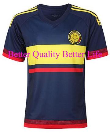 New Arrival 2015 16 National team Falcao James Rodriguez soccer Jersey football shirt Cuadrado soccer uniforms free shipping(China (Mainland))
