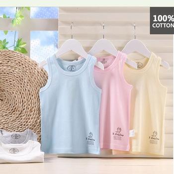 Новое поступление летние дети жилет без рукавов футболки для мальчиков мода дети футболка цвета конфеты топы хлопок тройники