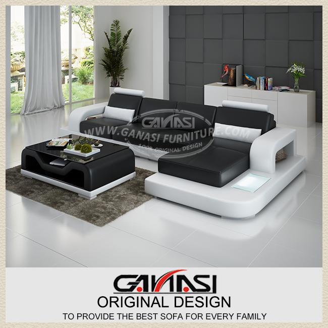 GANASI orange sectional leather sofa, sectional futon sofa ,modern white leather sectional sofa(China (Mainland))