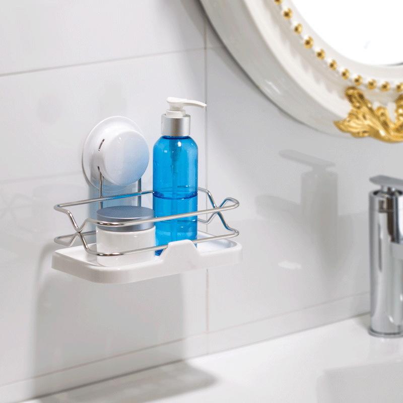Keuken Rek Rvs : gemonteerde unit rvs houder plastic shampoo opbergrek keuken rek witte