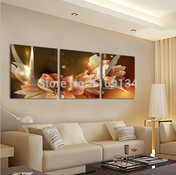 Fleur de decoration salon id es de d coration et de mobilier pour la conception de la maison - Schilderij salon idee ...