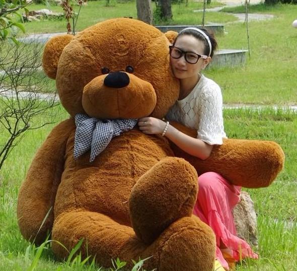 100CM BIG PLUSH SLEEPY TEDDY BEAR HUGE SOFT 100% COTTON TOY Plush Toys Valentine's Day gift 5 color(China (Mainland))