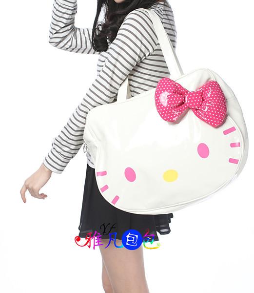 new fashion hello kitty PU tote bag purse Handbags(China (Mainland))