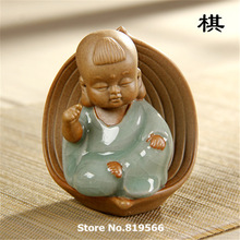 New 2015 Chinese Poetry and painting Ge Ceramic Tea Toy Kung Fu Tea Set Pet Decoration
