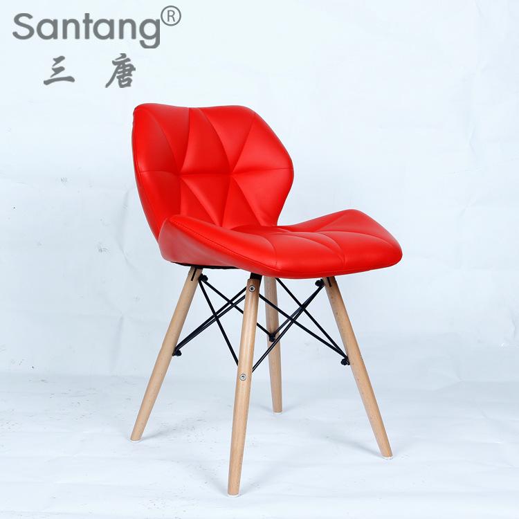 Don 1721PU three color beech legs Chair Chair Fashion Fashion waiting chair waiting chair(China (Mainland))