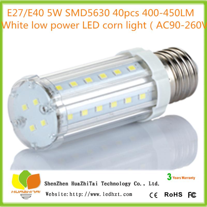 20pcs/lot Ultra Bright LED E27 Bulb Light lamp Corn 5W 220V SMD 5630 40LED white light LR led corn light e27(China (Mainland))