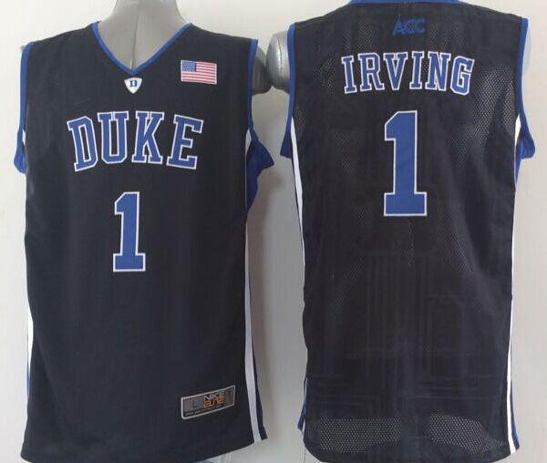 2014 NWT Duke Blue Devils #1 Kyrie Irving Jersey Blue Duke White Black Performance College Basketball NCAA Kyrie Irving Jerseys(China (Mainland))