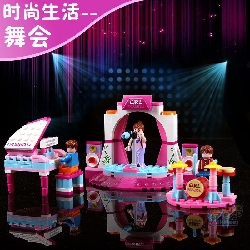 Music Series Building Blocks 2015 Hot Sale Self-Locking Bricks Children Day Gift Action Figure Model DIY Baby Toys(China (Mainland))
