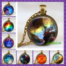 Nebula necklace space pendant nebula jewelry space charm art pendant bronze handmade jewelry astronomia steampunk Chokers