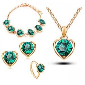 Розничные классические свадебные золотые платины покрытием форме сердца Austrya кристалл ...