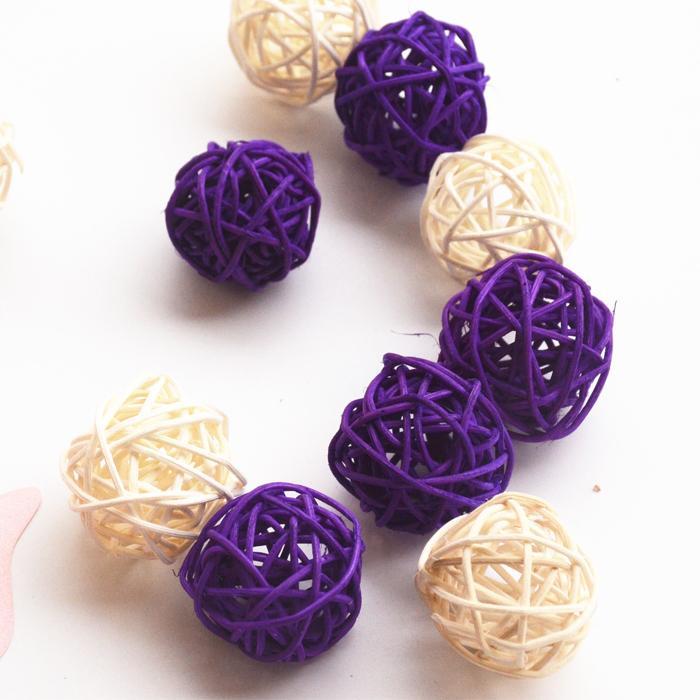 30pcs/Lot 5cm Mix Color Wedding Decorative Rattan Ball Christmas Decor Home Ornament / Diameter Home Decoration(China (Mainland))