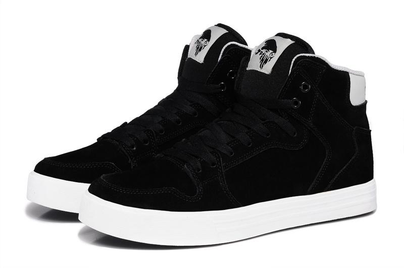 Джастин бибер vaider корона стиль все черный пенни замша высокая верхний скейтбординг обувь хип-хоп обувь