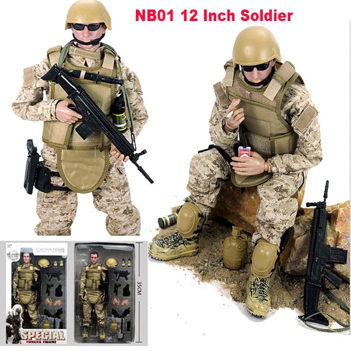 Combat Desert Acu Soldier