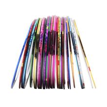 10pcs lot New Mixed Color Nails Striping Tape Lines Fashion DIY Fingernail Decoration Art Painting Rolls