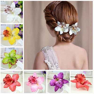 Декоративные цветы для волос