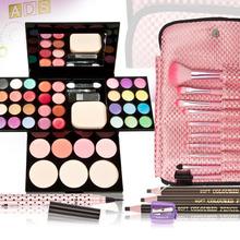 New Fashion Makeup Set Brushes Eyeliner Eyeshadow Blush Palette Powder Kit Sets Free Shipping(China (Mainland))