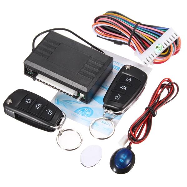 Wholesale Top Quality Universal Keyless Entry System with 2 Flip Keys Alarm Remote Control Lock or Unlock Car Door Auto Window(China (Mainland))