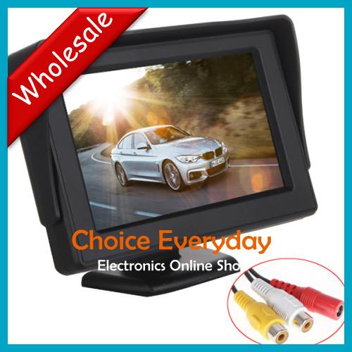5pcs/lot Wholesale 4.3 Inch High Definition LCD Car Monitor Digital Panel Car Rearview LCD Monitor(China (Mainland))