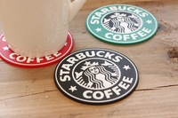 Famous  LOGO Version 1992 Mermaid Krakens Silicone Coaster Round Placemats Japanese Coffee Pads Cup Mats