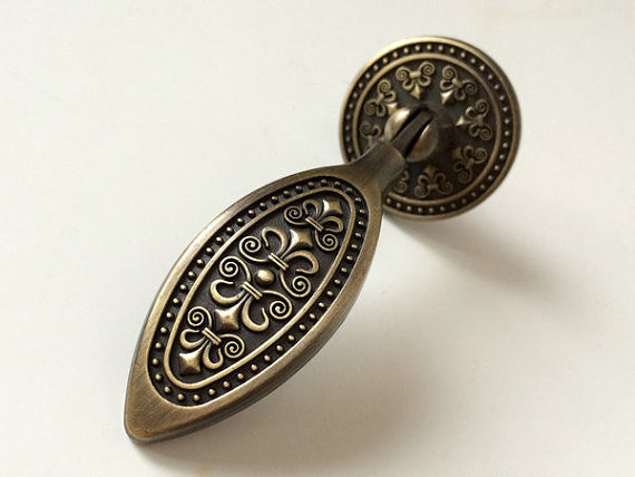 Drop Dresser Drawer Pulls Knobs Antique Bronze Kitchen Cabinet Knobs
