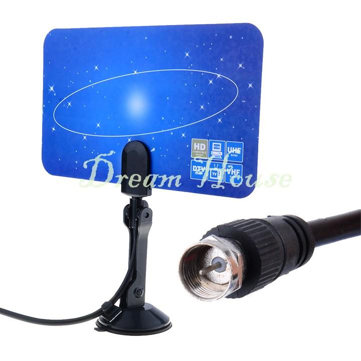 Best Selling Digital Indoor TV Antenna HDTV DTV Box Ready HD VHF UHF Flat Design High Gain 29(China (Mainland))