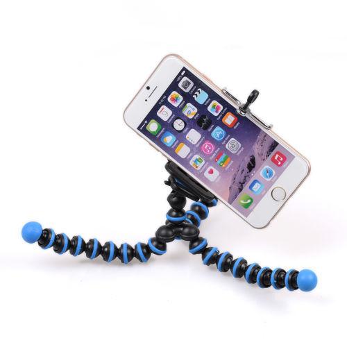 Blue Travel Flexible Camera DV Tripod Holder Stand Octopus For Canon Nikon Gopro(China (Mainland))