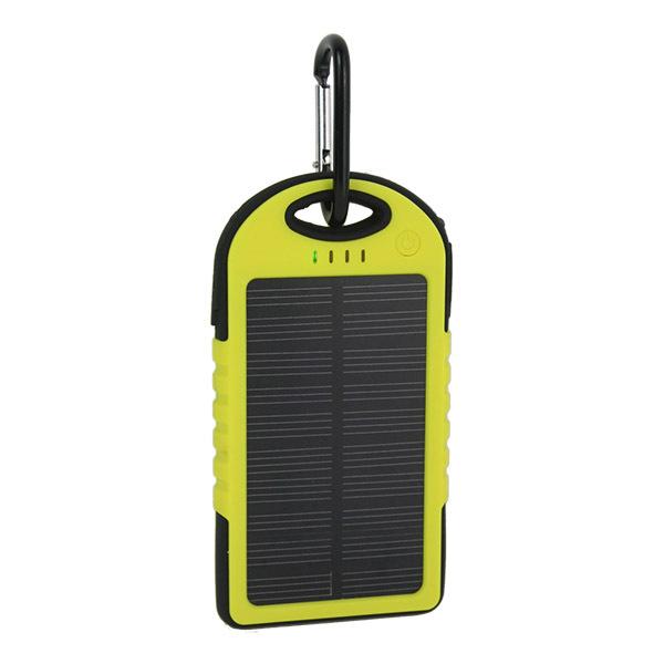 5000mAh Dual USB Port Rainproof / Shockproof / Dirtproof Solar Panel Power Bank Battery Charger Portable External Battery Pack(China (Mainland))